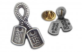 Dog Tag Ribbon Pinz